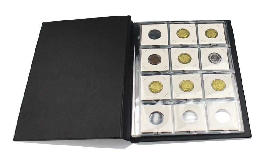 Альбом PCCB для 120 монет в холдерах (чёрный) - 2