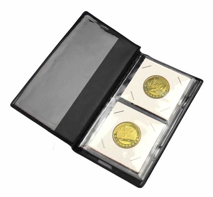 Альбом PCCB для 12 монет в холдерах (бордовый) - 1