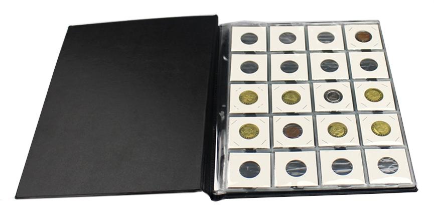 Альбом PCCB для 200 монет в холдерах (бордовый) - 2