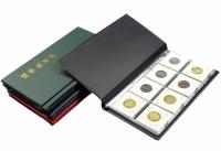 Альбом PCCB для 80 монет в холдерах (бордовый) - 1