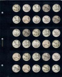 Универсальный лист для монет диаметром 25,5 мм (1 соль) - 1