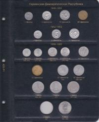 Альбом для памятных и регулярных монет ГДР - 1